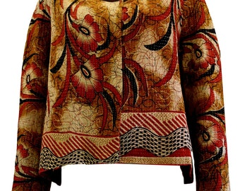 Handmade jacket from old Indian quilts