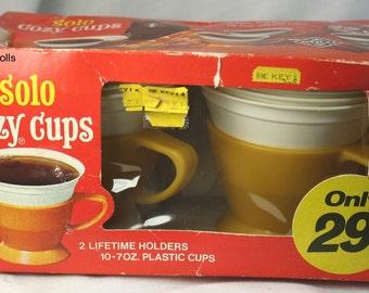 Vintage Solo Brand Cozy Cups & Original Box 1970's