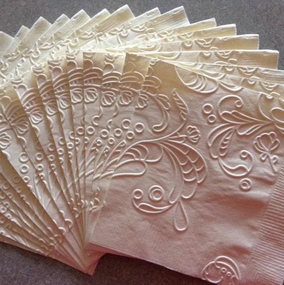 Wedding Napkin Embossed Paper Napkin Wedding Bridal