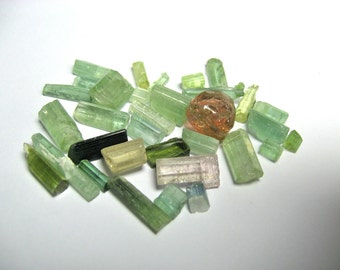Tourmaline  natural crystals mixed colour from Afghanistan 58 cts plus or 11.6 grams