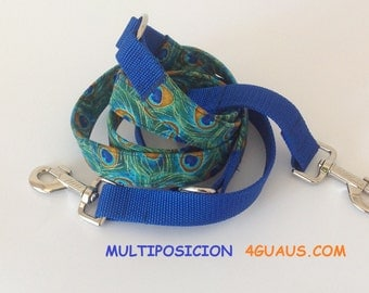 multi-position training leash, double carabiner, double ended leash, fabric leash - 4GUAUS.COM