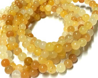 8mm Aragonite Gemstone Beads - 15.5inch Full strand - Round Gemstone Beads