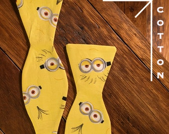 Minionbo3 Fully Adjustable Self-tie Men's Bow tie