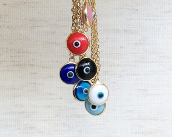 Evil Eye Necklace Gold Evil Eye Choker Evil Eye jewelry Evil Eye Pendant