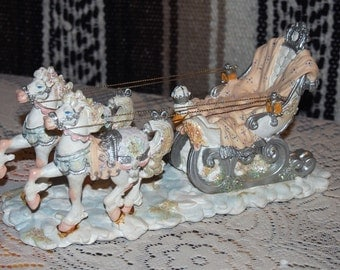 Russian Sleigh And Horses