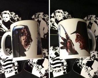 Freddy vs Jason Ceramic Mug - Freddy Krueger, Jason Voorhees, A Nightmare on Elm Street, Friday the 13th