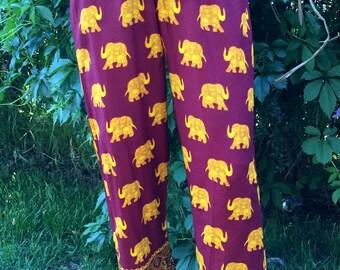 Golden Elephant Harem Pants, size 3 and 5
