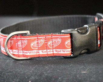 "Detroit Red Wings Dog Collar - Side Release Buckle (1"" Width)"
