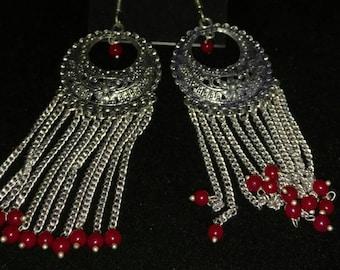CLEARANCE *Red Glass Windchime Earrings