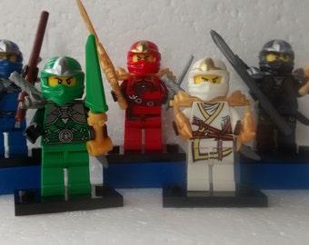 Ninjago Mini Figures Cole,Zane,Kai,Lloyd & Jay Fits All Lego Sets