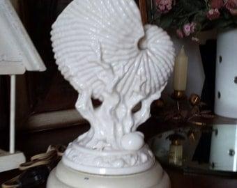 Vintage Ceramic Conch Shell Lamp Vintage Ceramic TV Lamp Andrea Sadek Shell Lamp Japan