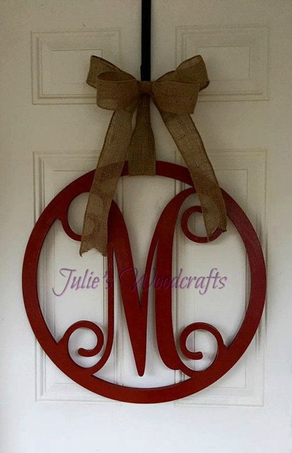 Initial Door Hanger Or Wall Decor Wooden By Julieswoodcrafts