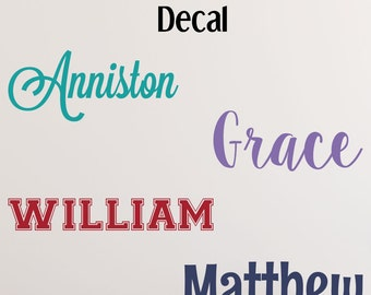 Name Decal for Nursery - Name Wall Decal - Nursery Name Decal - Name Stickers - Custom Name Decal - Toy Box Decal - Baby Name Decals