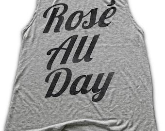 Rose All Day Tank Top - Womens Work Out Shirt - Flowy Tank Top - Brunch Shirt