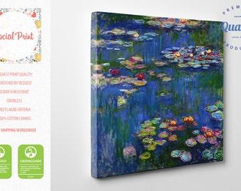 Claude Monet Water Lilies (Nymphéas) canvas print, reproduction FREE SHIPPING fine art gallery print Artwork Giclee home decor famous art