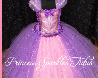 Rapunzel inspired tutu dress