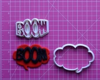 Boom  Fondant Cutter  boom box,boom beach,