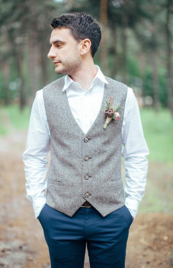 veste hommes gilet pour homme gilet mariage gilet en tweed. Black Bedroom Furniture Sets. Home Design Ideas