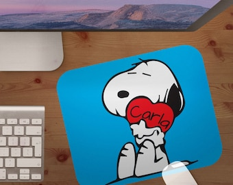 mouse pad,snoopy,charlie brown,peanuts,mouse pads,mousepad,mouse pad,personalized mouse pad,gift under 20,christmas gift,stocking stuffer