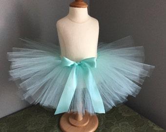 Aqua Blue Tutu, Aqua Tutu Skirt, Baby Girl Tutu, Birthday Tutu, Photo Prop, Newborn Tutu, Toddler Tutu, Princess Tutu, Light Blue Tutu