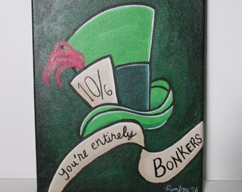 Mad Hatter Hat 8x10 Painting