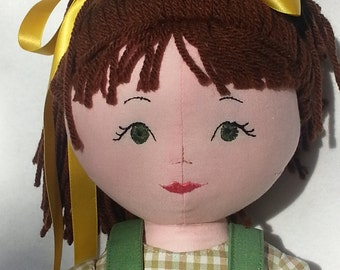 Beth, Fabric Doll, Traditional Rag doll, Cloth doll Birthday gift for girl, Christmas gift for girl