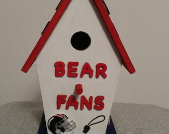 Chicago Bears Birdhouse
