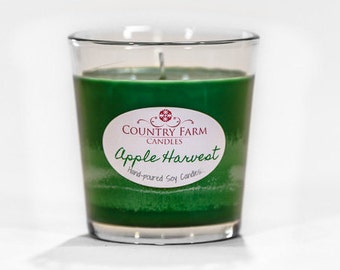 Apple Harvest Soy Candle 8.5 oz. Glass Jar Container Tumbler with Kraft Box