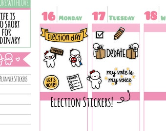 10% OFF Munchkins - I Voted! Presidential Election Day Planner Stickers (M190)