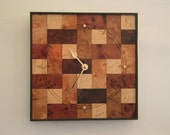 Wall Clock Wooden Wall Clock Art Deco Wall Clock Retro Wall Clock Handmade Clock Unique Wall Clock Wooden Anniversary Gift for Him Unique