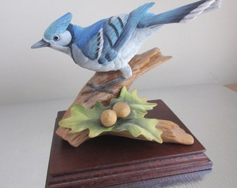 Blue Jay #9973,Hand painted Porcelain, Andrea by Sadek, made in japan