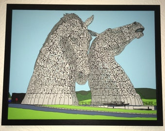 The Kelpies Framed Canvas print