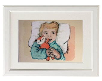 Custom portrait. A4 size. Digital illustration. Original gift. Personalized gift