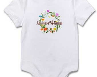 Adventuress - Feminist, feminism and Gender Equality baby clothing. Onesies, crawler, bodysuit for infant toddlers and newborns.