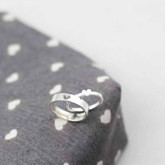 Promise Rings For Couples Couple Ring Set His And Her by JewelryRB