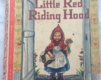 "vintage Little Golden Book Little Red Riding Hoods hardback LGB 1948 ""B"" edition"