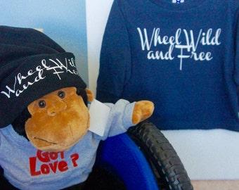 Wheel Wild and Free Tee, Wheels Tshirt, Wheelchair Tshirt, Disability Tshirt, Spina Bifida Tshirt