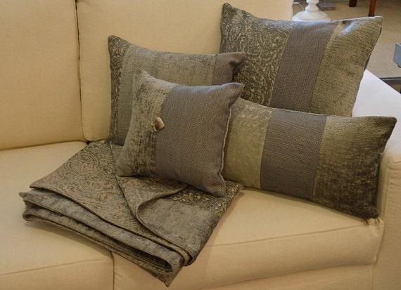 Decorative Sage Green Pillow Sage Green Stripes Velvet
