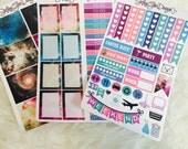 Galaxy Theme Weekly Planner Sticker Kit | Erin Condren & Plum Paper Planner
