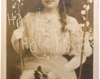 Antique Brithis Card, actress Maie Ash. 1906