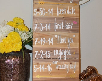 Large Custom Our Love Story Sign : Engagement / Wedding