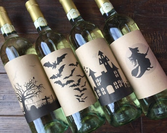 Halloween Wine Label halloween wine labels Halloween labels halloween wine Halloween wine Halloween party