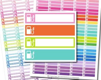 Gas stickers, Gas planner stickers, Gas printable stickers, Car gas stickers, Gas station stickers, Gas Pump sticker, STI-247