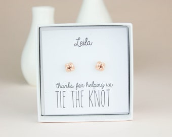 Bridesmaid Earrings, Tie The Knot Jewelry, Bridesmaid Gift,Bridesmaid Jewelry, Be My Bridesmaid, Bridal Party Gift