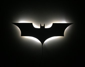 Illuminated LED Batman Sign Dark Knight Night Light Wall Decor