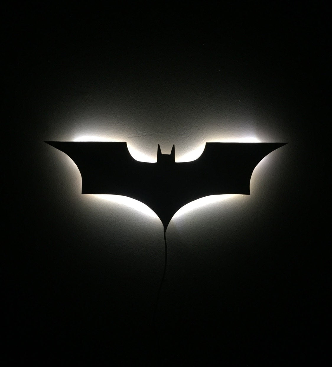 Illuminated led batman sign dark knight night light wall decor zoom amipublicfo Image collections