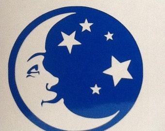 Sun, Moon, Stars vinyl decal