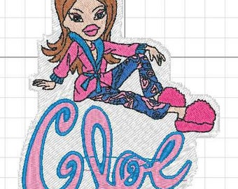 brats cloe embroidery design