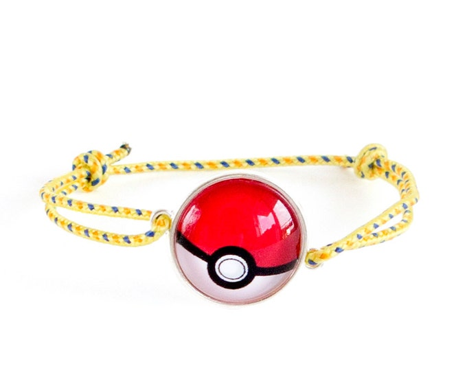 Pokemon Bracelet, Pokemon Go Bracelet, Pokemon Gifts, Pikachu Bracelet Unisex