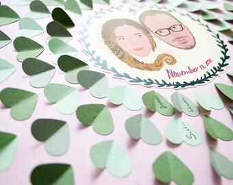 Wedding Guest Book Alternative, Custom Guestbook, Personalised Wedding Illustration, Custom Portrait, Unique Guestbook